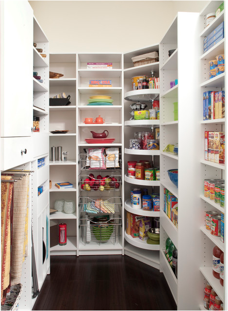 Contemporary Pantry with Lazy Susan