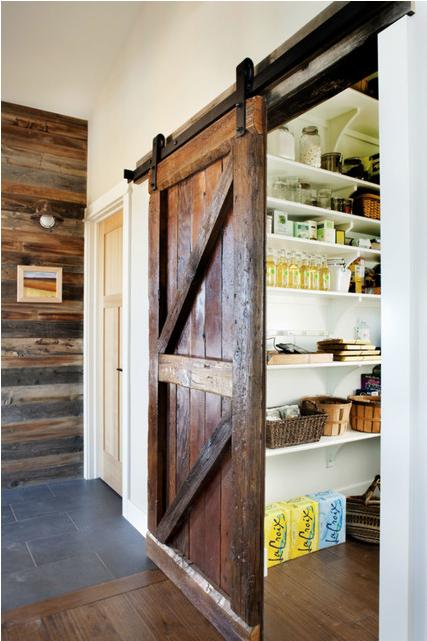 Rustic Barn Door Pantry