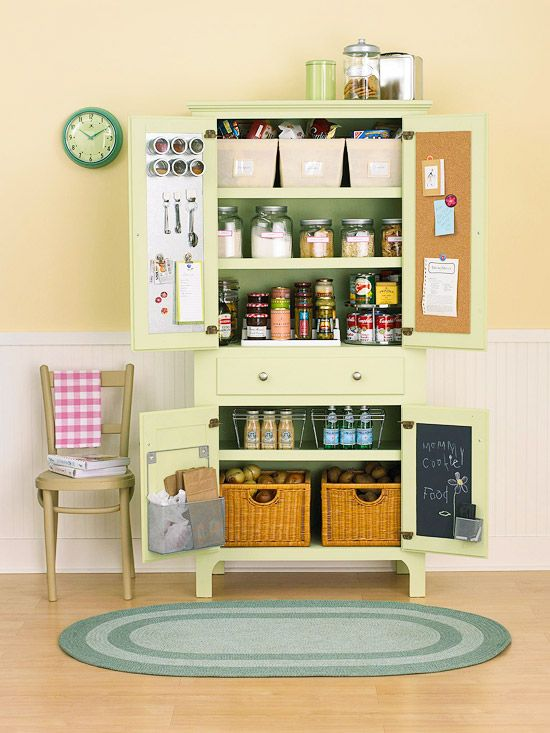 Colorful Hutch Turned Pantry