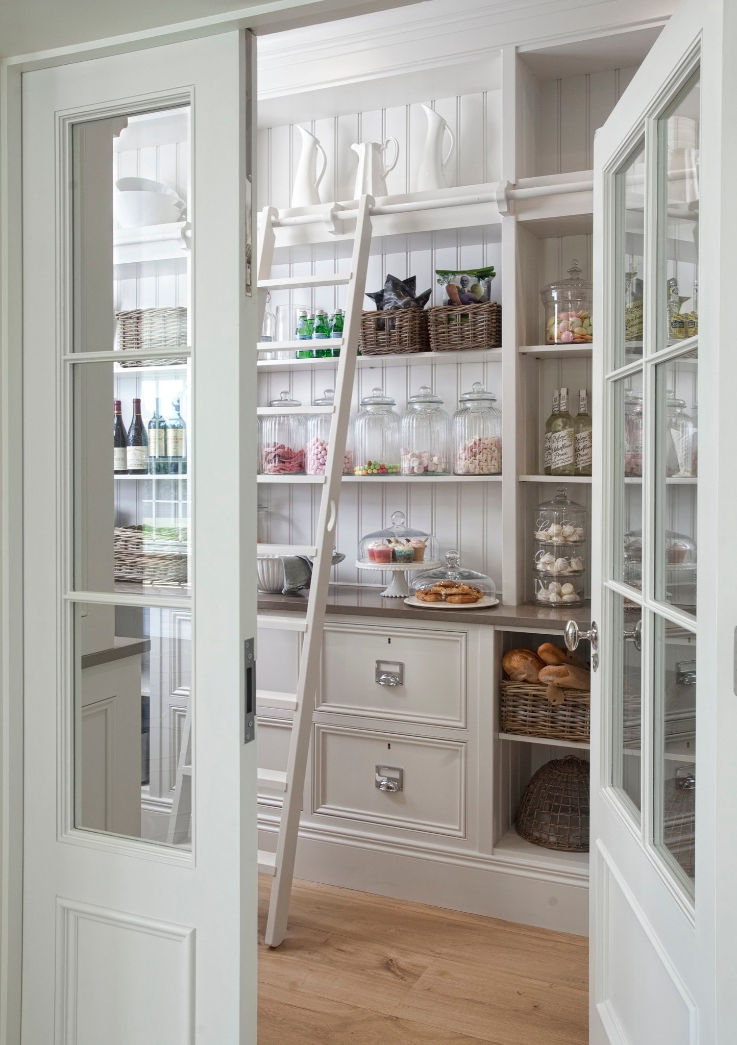 Gorgeous Butler's Pantry with Beadboard