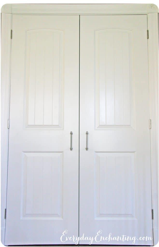 Pantry doors closed