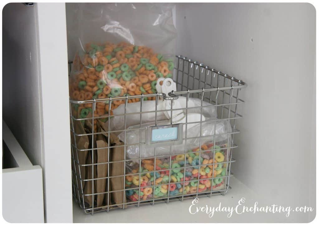 Basket of duplicate food items