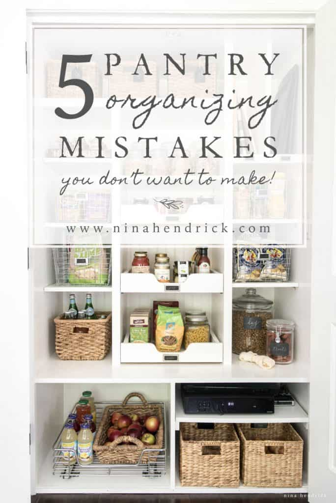 I made some simple changes to my new pantry to have even more storage. Here are the 5 pantry organizing mistakes I didn't know I was making!