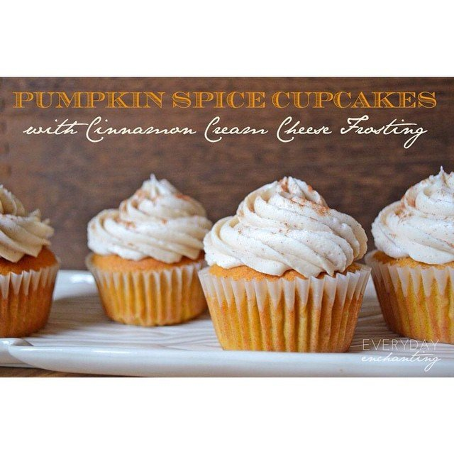 #ontheblog #PumpkinSpice Cupcakes with Cinnamon Cream Cheese Frosting... Yum!