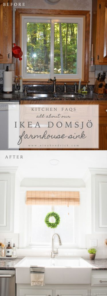 ikea farmhouse sink review domsjo nina hendrick design co. Black Bedroom Furniture Sets. Home Design Ideas