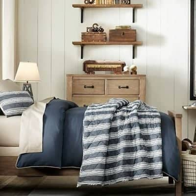 Rustic Industrial Boy Bedroom Design | Gather inspiration from this Rustic Industrial bedroom from Restoration Hardware Baby and Child.
