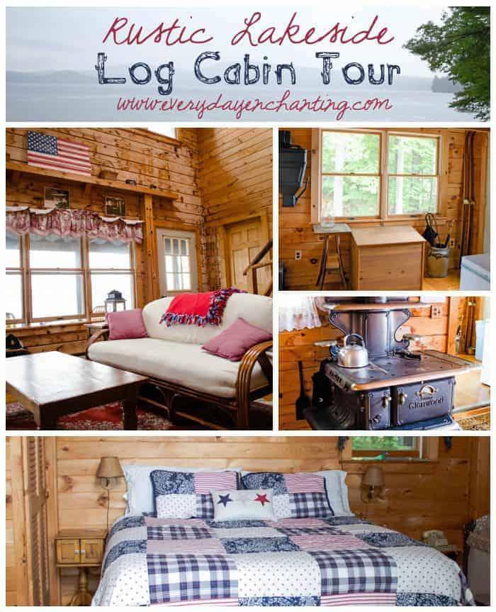 Rustic Lakeside Log Cabin Home Tour | www.ninahendrick.com