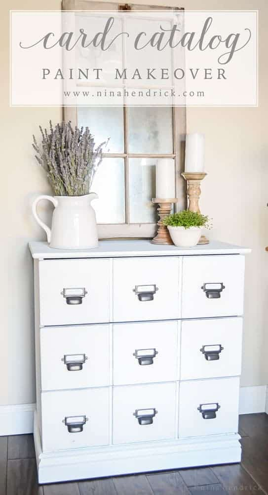 See how @nina_hendrick painted a card catalog during nap time using the Wagner Home Decor Sprayer. The results are beautiful!