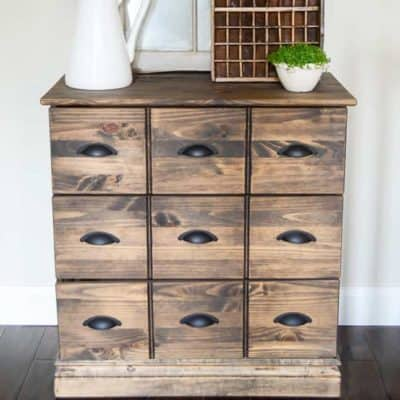 Wood Dresser Card Catalog IKEA Hack
