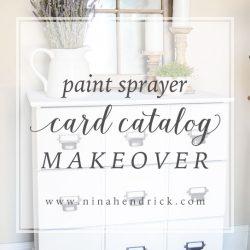 Card Catalog Makeover