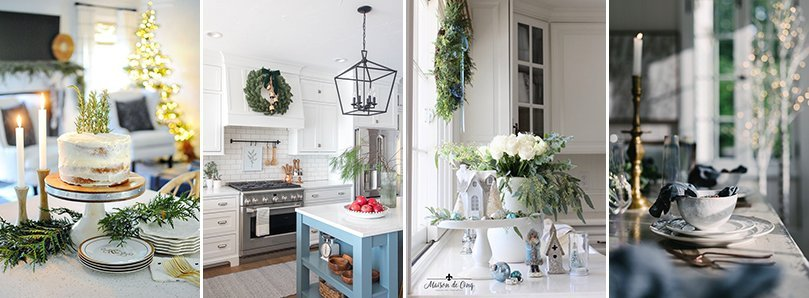 Christmas Kitchen Decorating Ideas from Dear Lillie, The Lilypad Cottage, Maison de Cinq, and Kindred Vintage