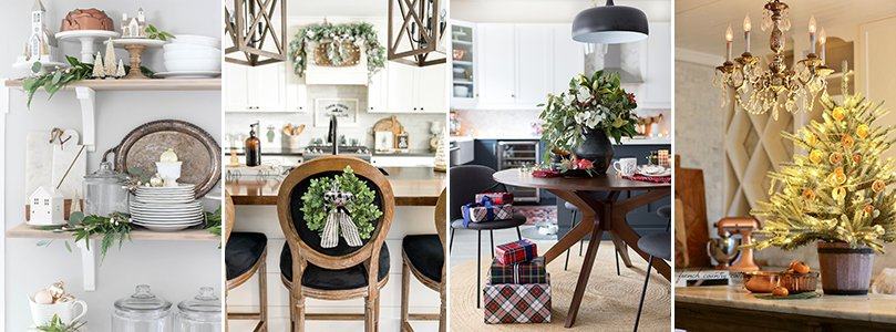 Christmas Kitchen Decorating Ideas from Rooms for Rent, Home Stories A to Z, Craftberry Bush, and French Country Cottage