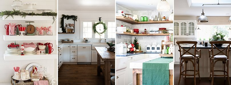 Christmas Kitchen Decorating Ideas from The Handmade Farmhouse, Boxwood Avenue, Nina Hendrick, and My Sweet Savannah