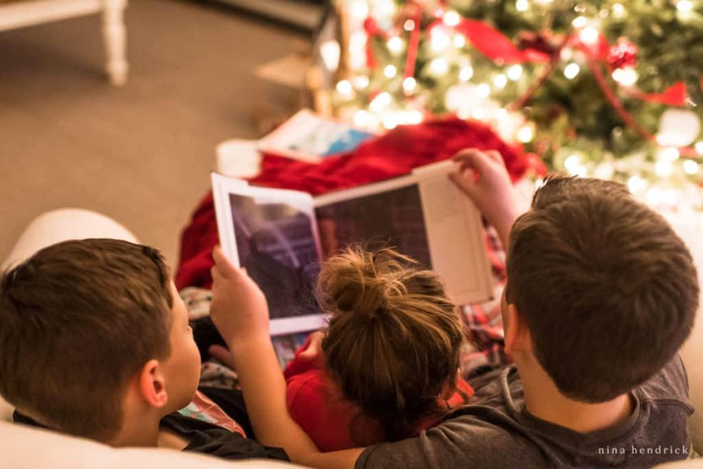 Children Reading Christmas Stories © Nina Hendrick