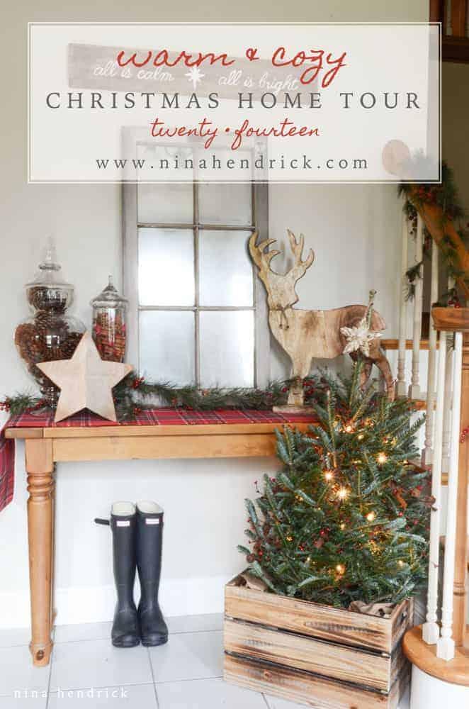 christmas home tour rustic and cozy christmas holiday decor inspiration from nina_hendrick - Cozy Christmas Decor