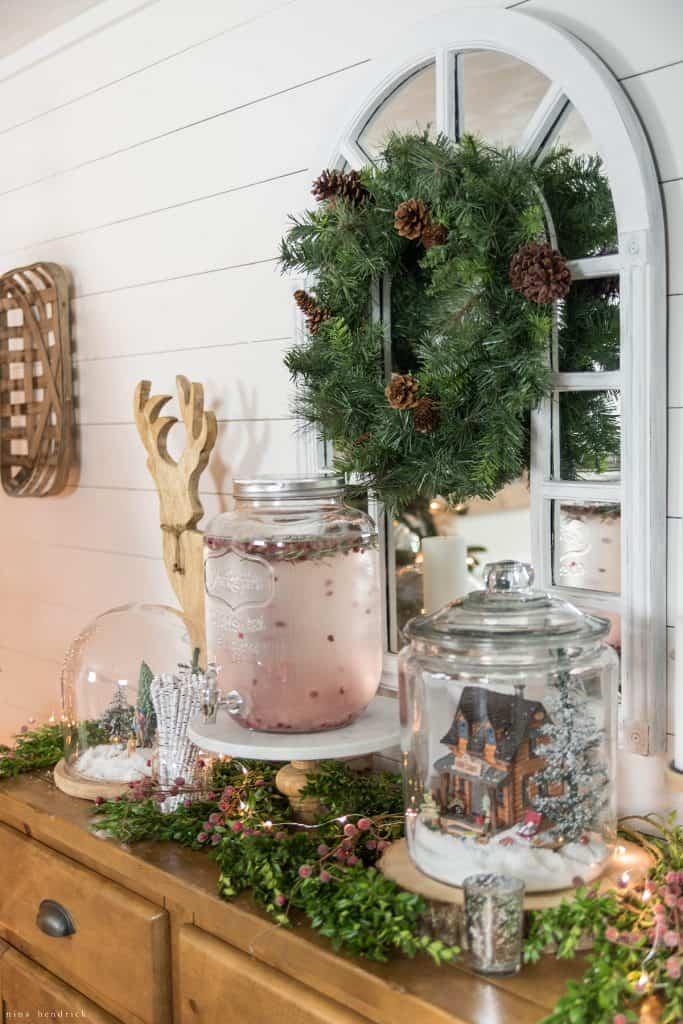 Christmas 2016 Nina Hendrick Holiday Housewalk | Christmas Buffet Vignette