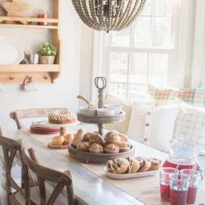 Cozy Breakfast Nook Christmas Brunch