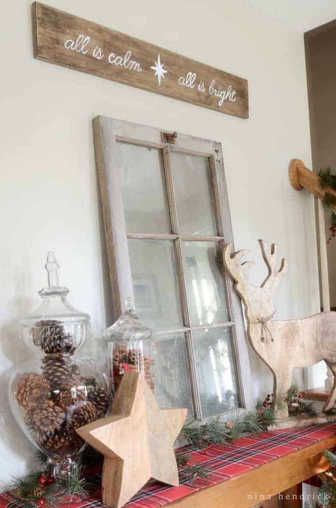 Christmas Home Tour | Rustic And Cozy Christmas Holiday Decor Inspiration  From @nina_hendrick