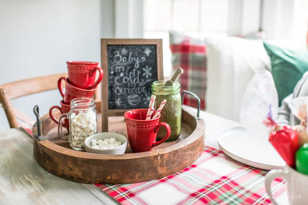 Christmas Hot Chocolate tray