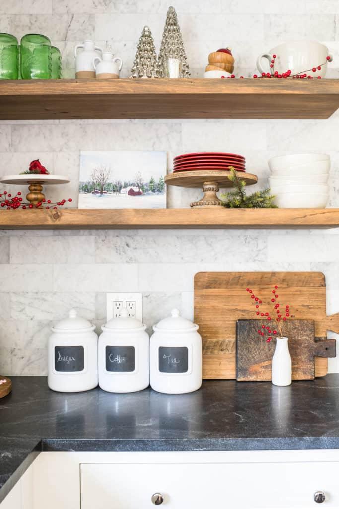 Christmas Decorating Ideas for Shelves
