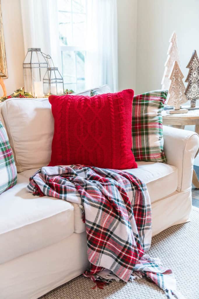 Red and Green Christmas Pillows