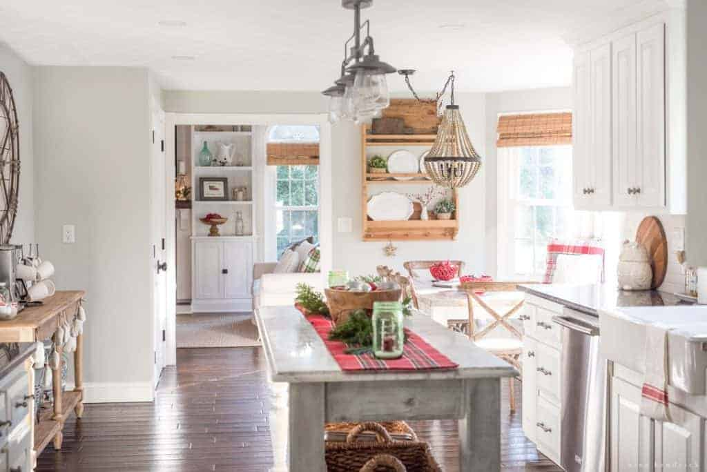 Classic Christmas Home Tour | Visit a New England colonial all decked out in classic Christmas red and green decor. ThisClassic Christmas Home Tour is timeless!