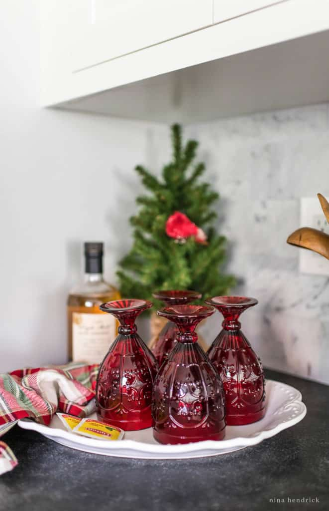 Hot Toddy Station in a Classic Christmas Kitchen