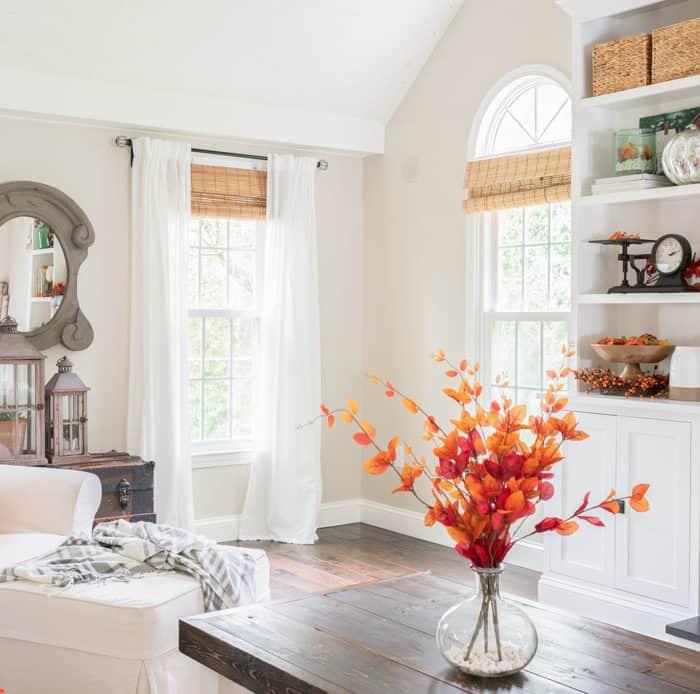 Classic Fall Family Room Decor