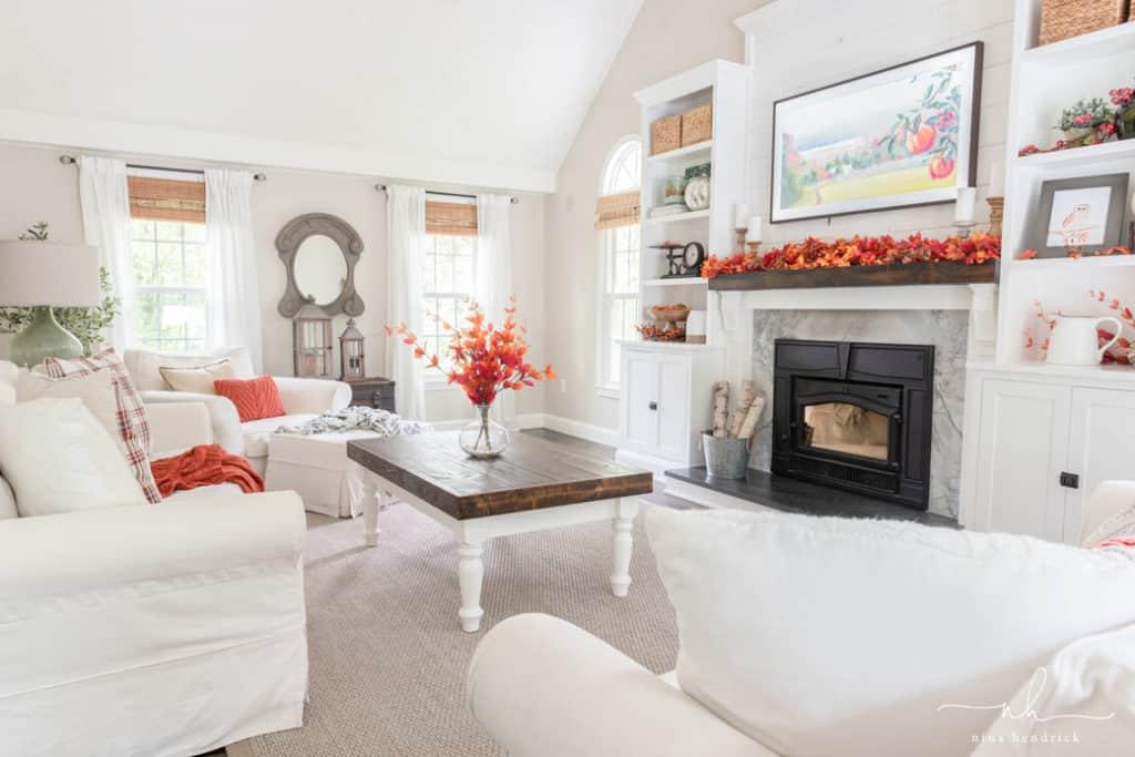 Classic Fall Family Room Decor Nina Hendrick
