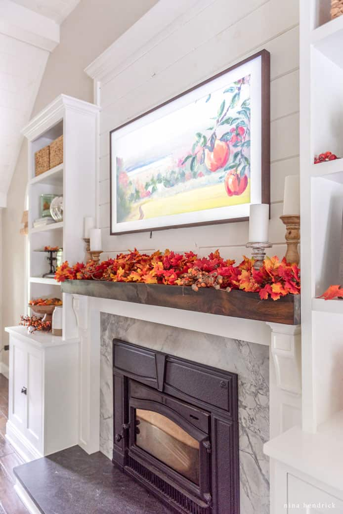 This classic fall mantel and fall mantel ideas are simple and affordable decor and can be used year after year to help you decorate your home for autumn.