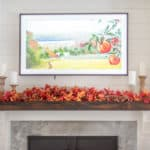 classic fall Mantel with built ins