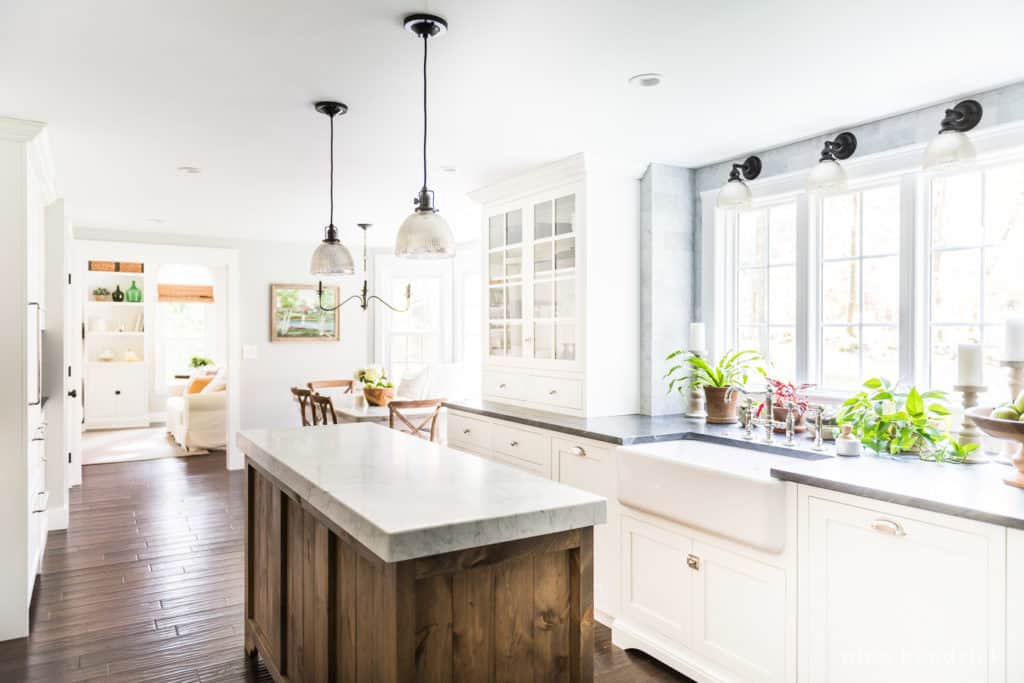 full kitchen renovation source list for a classic kitchen with marble and jet mist granite