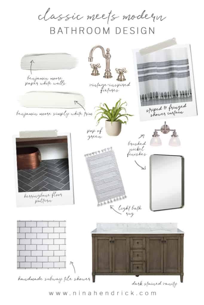 Classic Meets Modern Bathroom Design Collage