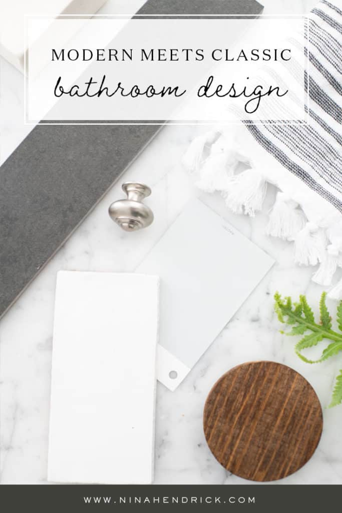 Modern Meets Classic Bathroom Design Inspiration Flat Lay
