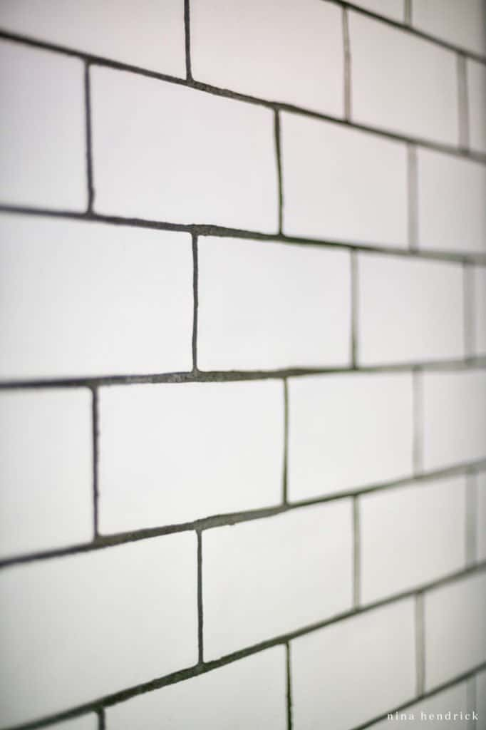 handmade Spanish subway tiles with dark grout