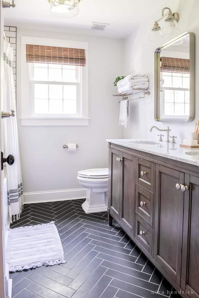 Classic Meets Modern Small Bathroom Makeover Nina Hendrick Home