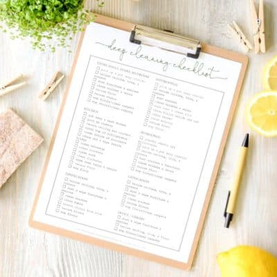 Cleaning Checklist Free Printable | Print this out as a quick guide for cleaning your whole home!