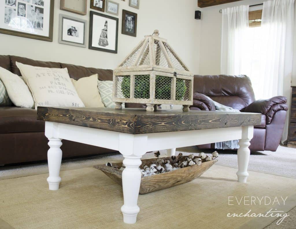 Diy cottage coffee table diy faux slab cottage coffee table tutorial geotapseo Gallery