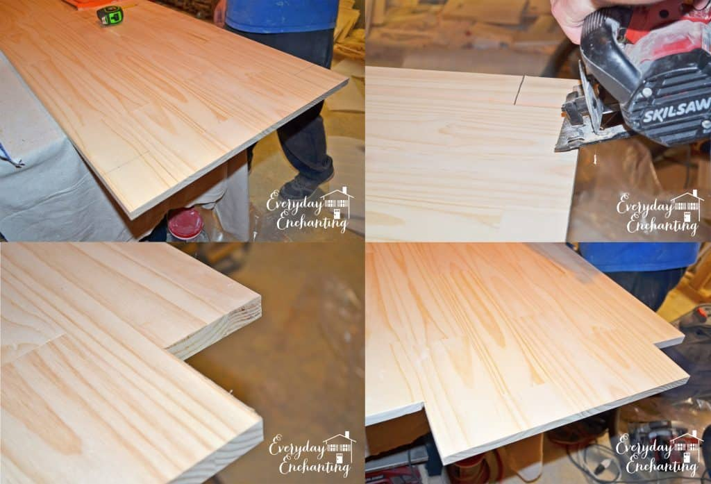 building a shelf for a DIY kitchen island