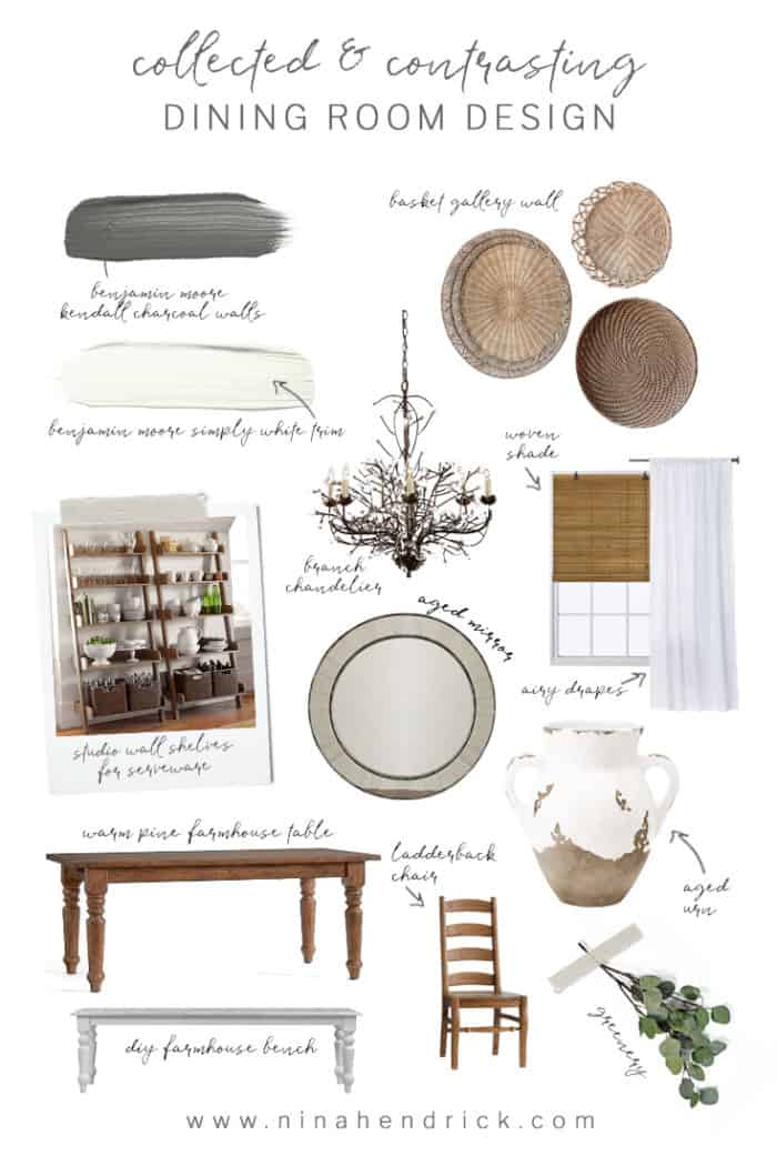 Collected and Contrasting Dining Room Design Inspiration