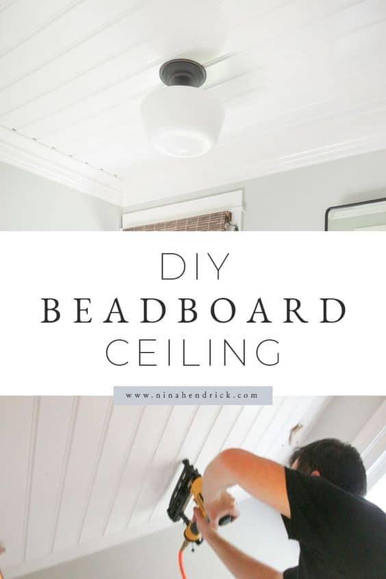 DIY Beadboard Ceiling tutorial