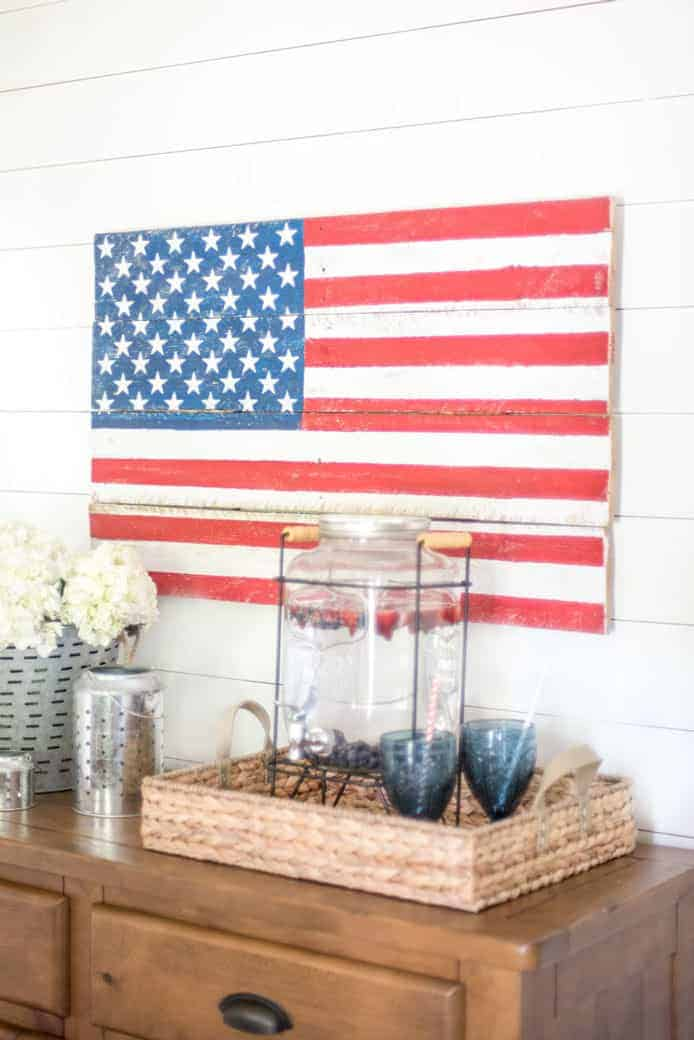Diy Rustic Pallet Wood American Flag Tutorial Create