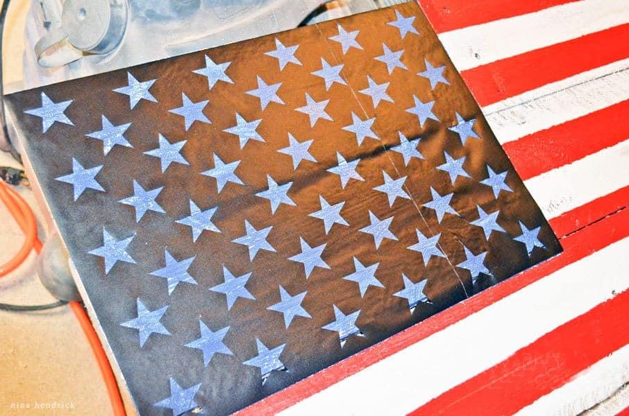 Diy Rustic Pallet Wood American Flag Tutorial Create Patriotic