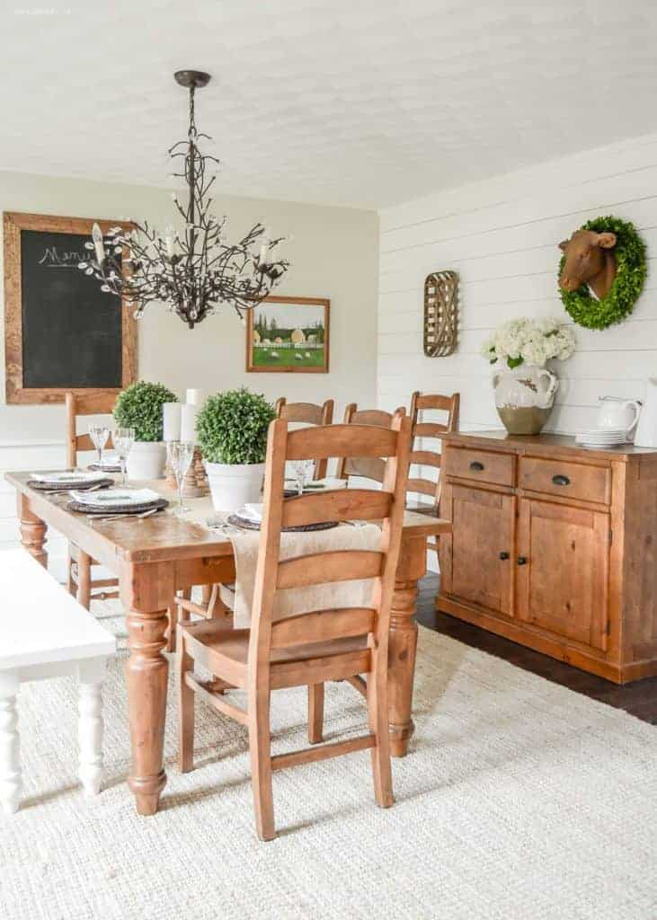 Farmhouse dining room makeover for Dining room makeover