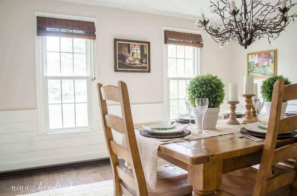 Farmhouse Dining Room Makeover