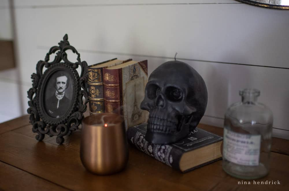 Creepy vignette with Edgar Allen Poe
