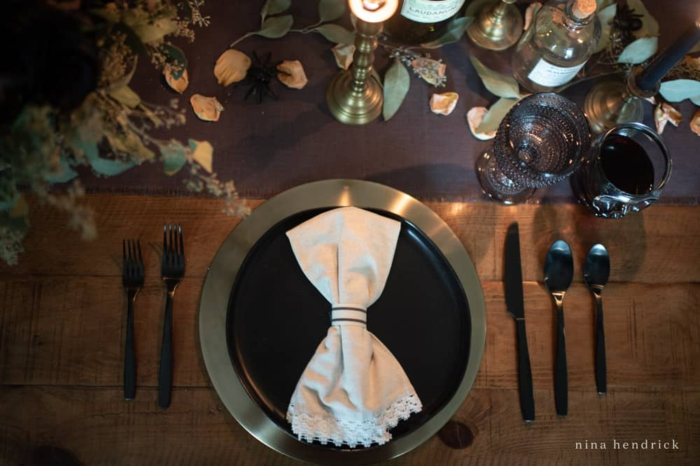 Halloween place setting ideas