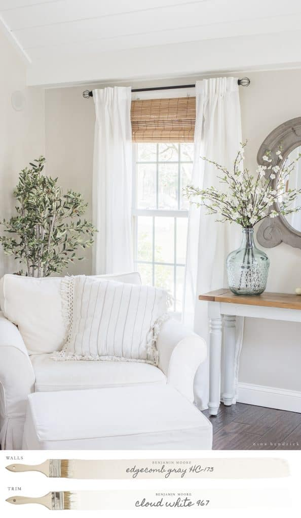 New england farmhouse neutral paint color scheme for Neutral off white paint