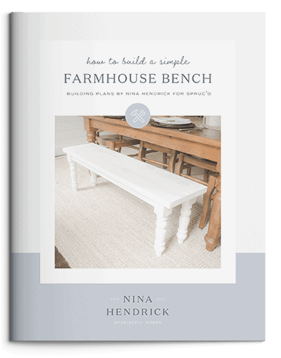 How to Build a Simple Farmhouse Bench Building Plans