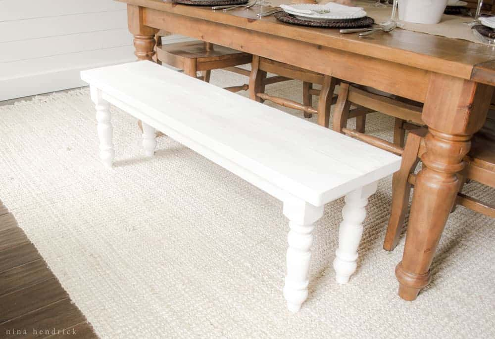 How to Build a Simple Farmhouse Bench with Free Building Plans